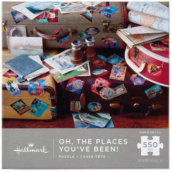 Hallmark : Oh, The Places You've Been! Travel Themed 550-Piece Jigsaw Puzzle - Annie's Hallmark & Gretchen's Hallmark, Sister Stores