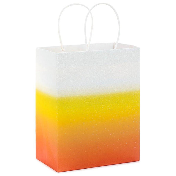"Hallmark : 9.7"" Ombré Candy Corn Halloween Gift Bag"
