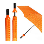 Vinrella : Wine Bottle Umbrella in Botanical Orange