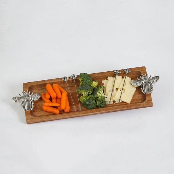 Wood Serving Tray - Bees - Annie's Hallmark Baldoria