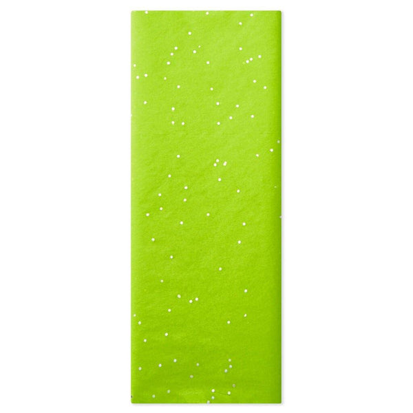 Hallmark : Peridot Green With Gems Tissue Paper, 6 sheets