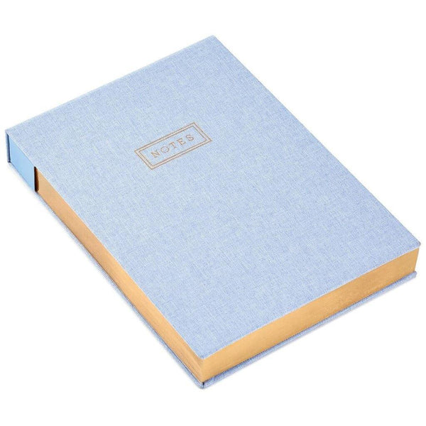Hallmark : Premium Blue Chambray With Gold Foil Notepad