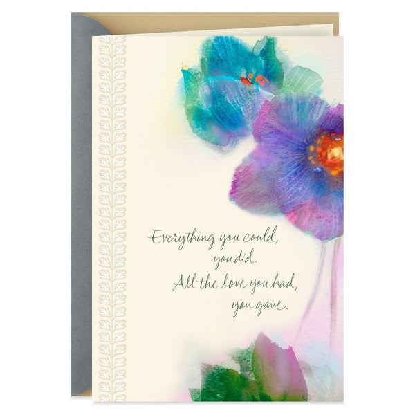 Hallmark : Watercolor Flowers Sympathy Card for Caregiver
