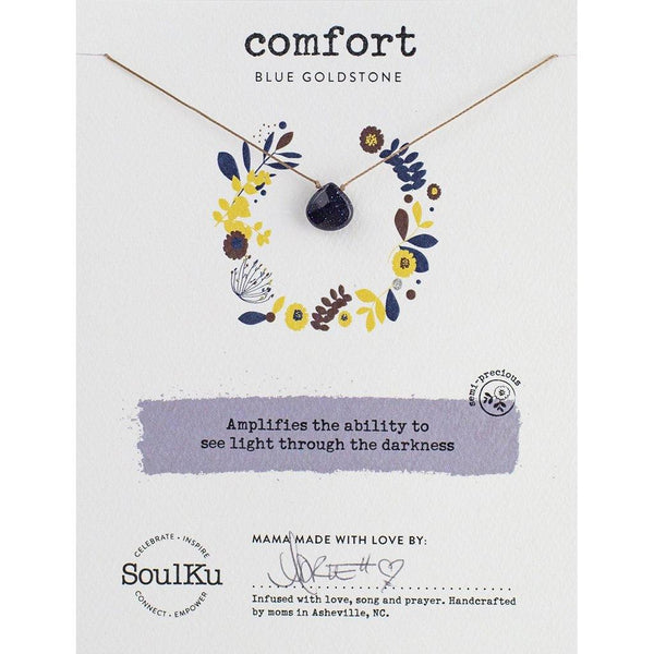 Soulku : Blue Goldstone Soul - Full Of Light Necklace for comfort