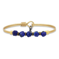 Luca + Danni : Lapis Beaded Bangle