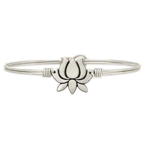 Lucca + Danni : Lotus Flower Bangle Bracelet