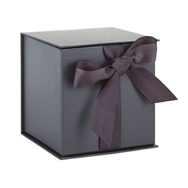Hallmark : Slate Gray Small Gift Box With Shredded Paper Filler