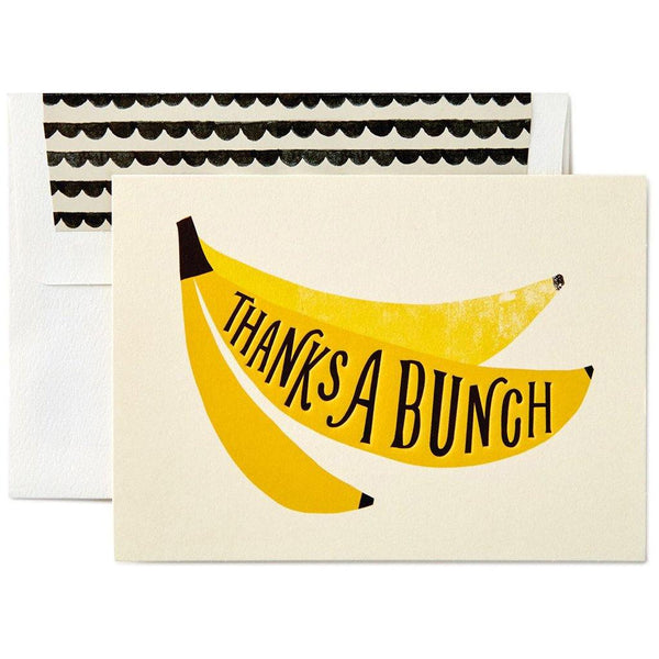 Hallmark : Thanks a Bunch Banana Note Cards, Box of 10