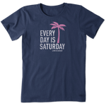 Life Is Good : Women's Everyday Is Saturday Crusher Tee (5 Asstd Sizes)