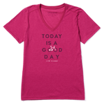Life Is Good : Women's Good Day Bike Cool Vee (5 Asstd Sizes)