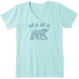 Life Is Good : Women's Mama Primal Bear Crusher Vee (5 Asstd Sizes)
