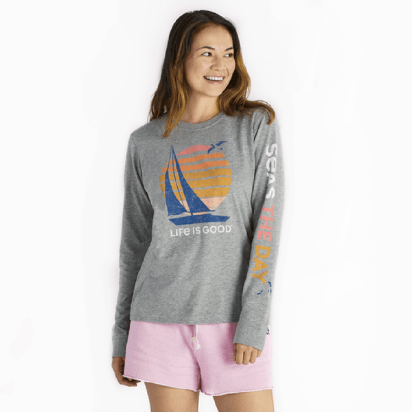 Life Is Good : Women's Seas The Day Crusher Long Sleeve (3 Asstd Sizes)