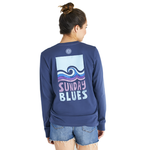 Life Is Good : Women's Sunday Blues Crusher Long Sleeve (Size Medium)