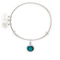 ALEX AND ANI : Birth Month Swarovski Charm Bangle in Shiny Silver - May