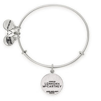 "ALEX AND ANI : The Beatles ""Come Together"" Charm Bangle in Rafaelian Silver"