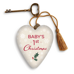 Demdaco : Baby's First Christmas Art Heart