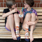 "Blue Q : Women's Ankle Socks - ""I Identify As a Bad*ss"""