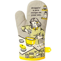 "Blue Q : Oven Mitt - ""Droppin' A Recipe On Your A**"""
