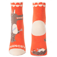 "Blue Q : Women's Ankle Socks - ""Hangry"""