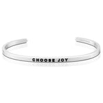 Choose Joy Bracelet in Silver