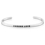Choose Love Bracelet in Silver