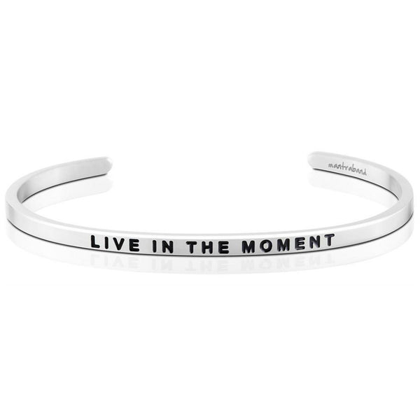 "MantraBand : ""Live in the Moment"" Bracelet"