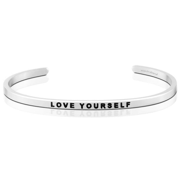 Love Yourself Bracelet in Silver