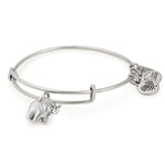 ALEX AND ANI : Elephant Charm Bangle in Rafaelian Silver