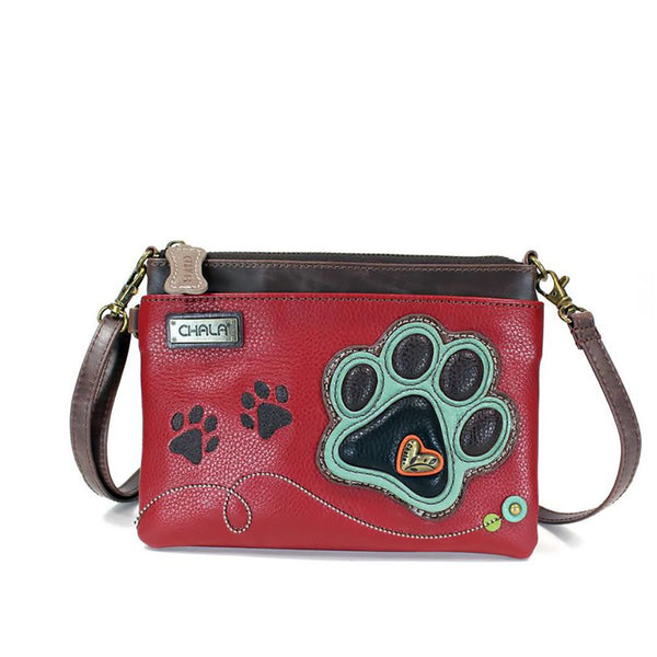 Chala : Paw Print Red Mini Crossbody