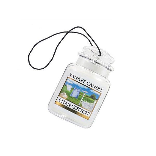 Yankee Candle : Car Jar Air Freshener in Clean Cotton