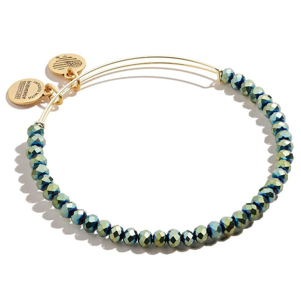 ALEX AND ANI : Brilliance Bead Bracelet in Emerald