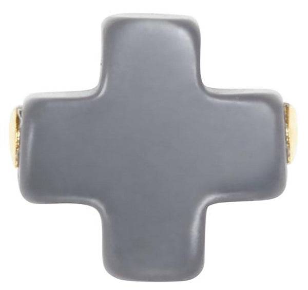 enewton :  Signature Cross Stud in Charcoal