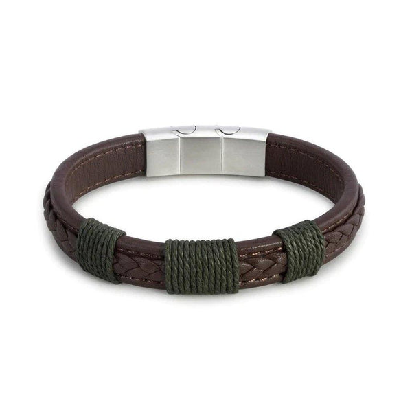 Demdaco : Journey Men's Brown Leather Adjustable Bracelet