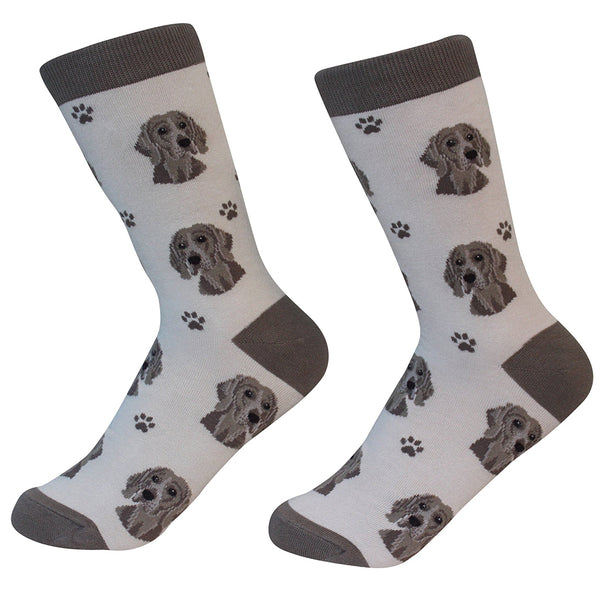 Dog Breed Crew Socks - Weimeraner