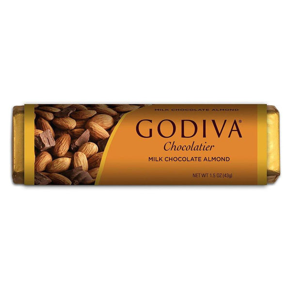 GODIVA : Milk Chocolate Bar With Almonds, 1.5 oz - Annie's Hallmark & Gretchen's Hallmark, Sister Stores