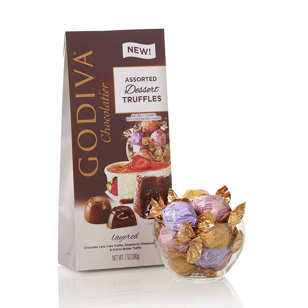 GODIVA : Wrapped Assorted Dessert Chocolate Truffles, Large Bag, 19 pc. - Annie's Hallmark & Gretchen's Hallmark, Sister Stores