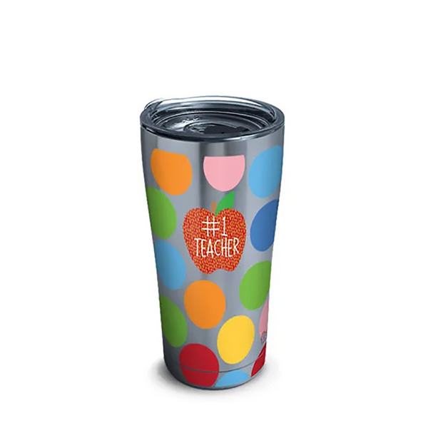 Tervis : Happy Everything!™ - #1 Teacher Stainless Steel Tumbler With Slider Lid 20oz - Annie's Hallmark & Gretchen's Hallmark, Sister Stores