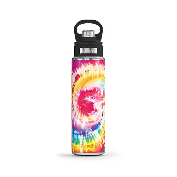 Tervis : Stainless Steel Wide Mouth Bottle with Deluxe Spout Lid in Cotton Candy Tie Dye - Annie's Hallmark & Gretchen's Hallmark, Sister Stores