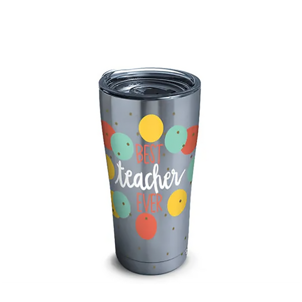 Tervis : Coton Colors™ - Best Teacher Stainless Steel Tumbler With Slider Lid 20oz - Annie's Hallmark & Gretchen's Hallmark, Sister Stores