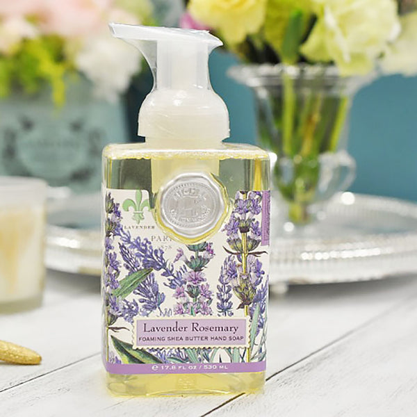 Michel Design Works : Lavender Rosemary Foaming Hand Soap - Annie's Hallmark Baldoria