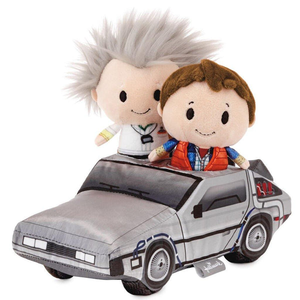 Hallmark : itty bittys® Back to the Future Marty McFly and Dr. Emmett Brown in the Time Machine Stuffed Animal Set