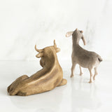 Willow Tree : Ox and Goat Figurine