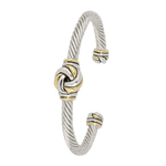 John Medeiros : Infinity Knot Two Tone Center Wire Cuff Bracelet