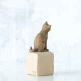 Willow Tree : Love My Cat (Dark) Figurine