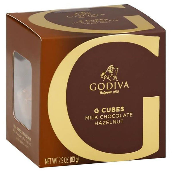 GODIVA : Milk Chocolate Hazelnut G Cube Box