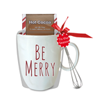 Be Merry Mug with Cocoa and Whisk