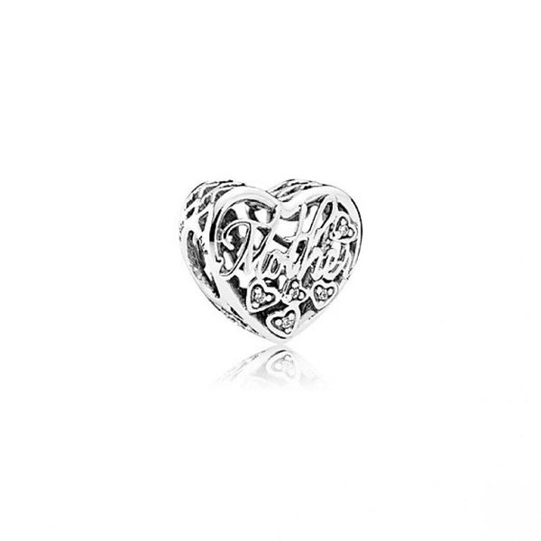 PANDORA : Mother and Son Script Openwork Charm