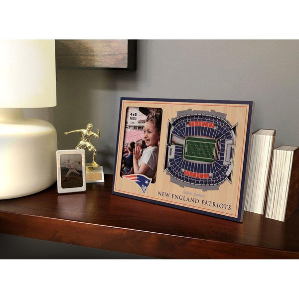 NFL New England 3D Stadium View Picture Frame - Gillette Stadium