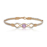 Ronaldo Jewelry : One Day at a Time Bracelet (Pink Cubic Zirconia)