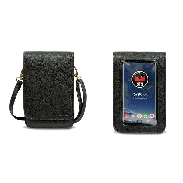 Touch Screen Cell Phone Purse in Black